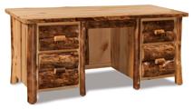 Fireside Rustic Double Pedestal Desk