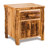 Fireside Rustic 1 Drawer Night Stand with shelf