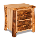 Fireside Rustic 2 Drawer Night Stand