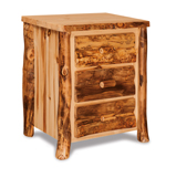 Fireside Rustic 3 Drawer Night Stand