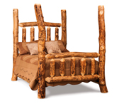 Fireside Rustic 4 Poster Bed