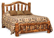 Fireside Rustic Bed with Low Footboard