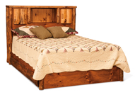 Fireside Rustic Bookcase Bed with Storage Drawers