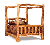 Fireside Rustic Canopy Bed
