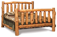 Fireside Extra High Rustic Bed