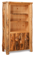 Fireside Rustic Bookcase with Doors