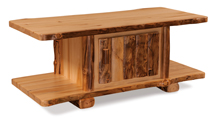 Fireside Rustic Coffee Table with Doors