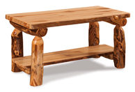 Fireside Rustic Coffee Table with Shelf