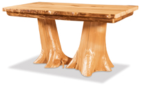 Fireside Rustic Double Stump Table