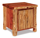 Fireside Rustic End Table with Door