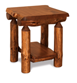 Fireside Rustic End Table with Shelf