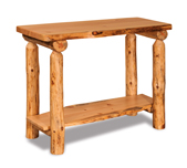 Fireside Rustic Flat Sofa Table with Shelf