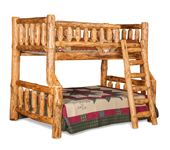 Fireside Rustic Full/Twin Bunk Bed with Opening