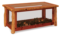 Fireside Rustic Glass Coffee Table