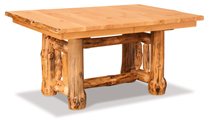 """Fireside Rustic Leaf Table with Two 12"""" Leaves"""