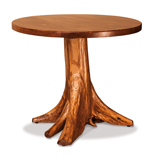 Fireside Rustic Round Table with Stump