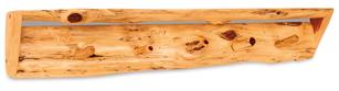 Fireside Rustic Slab Shelf with Pegs