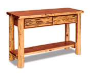 Fireside Rustic Sofa Table with Drawers