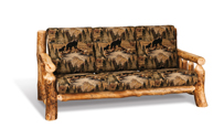 Fireside Rustic Sofa with Fabric Seat