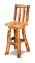 Fireside Rustic Swivel Bar Stool