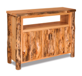 Fireside Rustic TV Cabinet with Opening