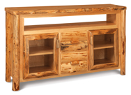 Fireside Rustic TV Cabinet with Opening and Drawers