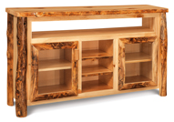 Fireside Rustic TV Cabinet with Opening and Shelves