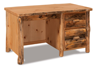 Fireside Rustic Single Pedestal Desk