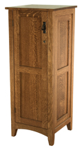 Flush Mission Jewelry Armoire with Lockable Door