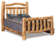 Fireside Rustic Extra Rail  Headboard Bed