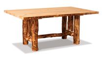 Fireside Rustic Trestle Table