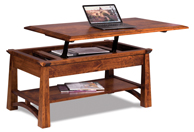 Artesa Open Lift Top Coffee Table with Counter Weight