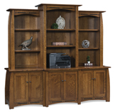 Boulder Creek  6 Door Backbar with 3 Piece Hutch Top