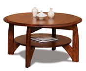 """Boulder Creek 38"""" Round Solid Top Coffee Table"""