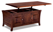 Ensenada Enclosed Lift Top Coffee Table with Doors
