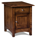 Finland Enclosed End Table with Drawer and Door