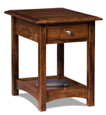 Finland Open End Table with Drawer