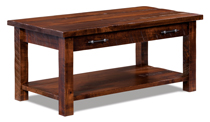 Houston Open Coffee Table with Drawer and Shelf