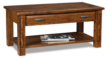 Lexington Open Coffee Table with Drawer