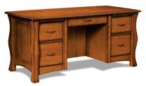 Reno 5 Drawer Desk with Unfinished Backside