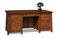 Colbran 5 Drawer Desk with Unfinished Back