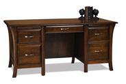 Ensenada 5 Drawer Desk with Unfinished Back