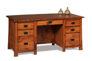Grant 7 Drawer Desk with Unfinished Back