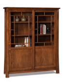 Modesto 8 Shelf, 2 Door Bookcase