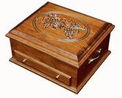 Grapes Lid Silverware Chest