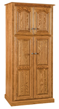 "32"" Lux Traditional 4-Door Pantry Cabinet"