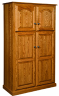 Lux Traditional 4-Door Pantry Cabinet