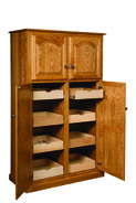 "42"" Lux Traditional 4-Door Pantry Cabinet with Rollout Shelves"