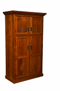 Stickley Heritage Mission 4 Door Pantry with Lights
