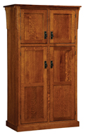 "42"" Mission 4-Door Pantry Cabinet"